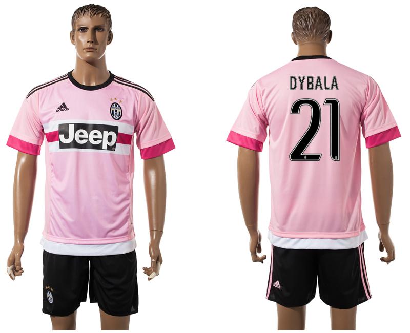 2015-16 Juventus 21 DYBALA Away Jersey