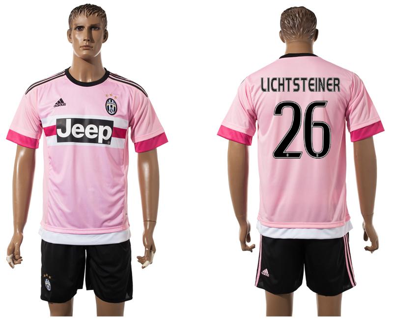 2015-16 Juventus 26 LICHTSTEINER Away Jersey
