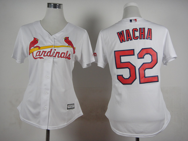 Cardinals 52 Wacha White New Cool Base Women Jersey