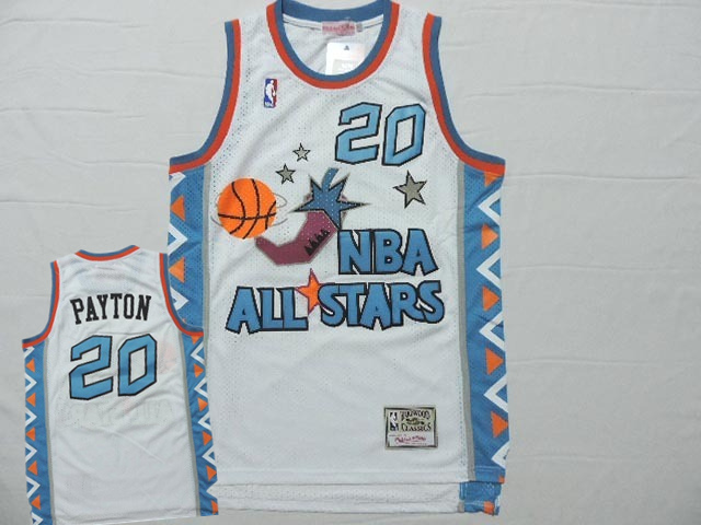 All Star 20 Gary Payton White Hardwood Classics Jersey