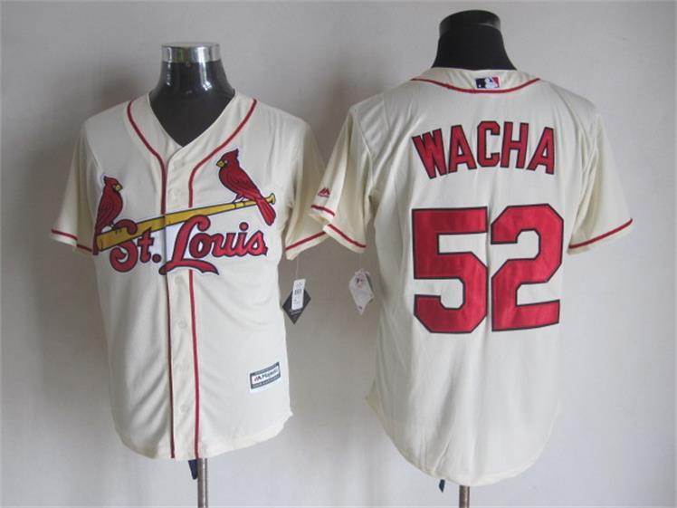 Cardinals 52 Michael Wacha Cream New Cool Base Jersey