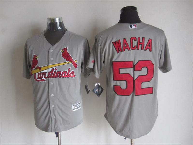 Cardinals 52 Michael Wacha Grey New Cool Base Jersey