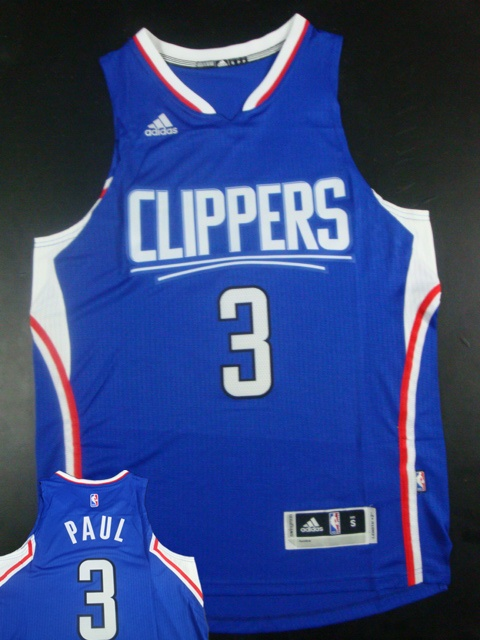 Clippers 3 Chris Paul Blue 2015 New Rev 30 Jersey (hot printed)