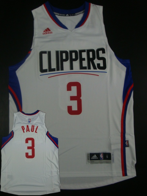 Clippers 3 Chris Paul White 2015 New Rev 30 Jersey (hot printed)