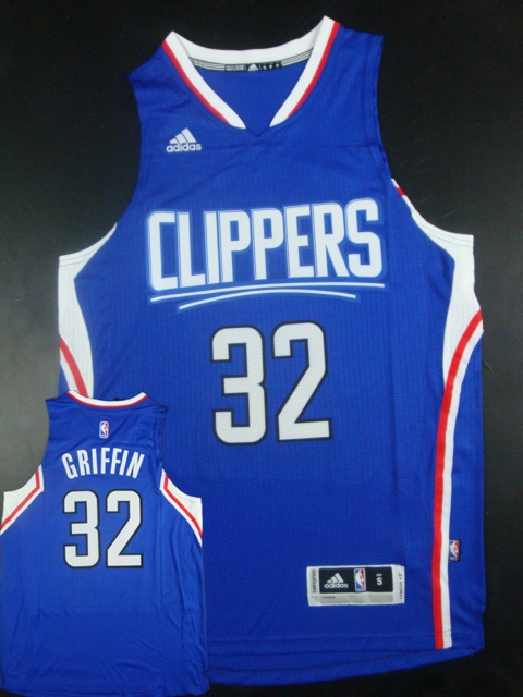 Clippers 32 Blake Griffin Blue 2015 New Rev 30 Jersey (hot printed)