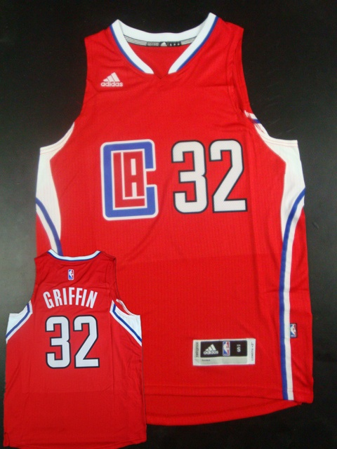Clippers 32 Blake Griffin Red 2015 New Rev 30 Jersey (hot printed)