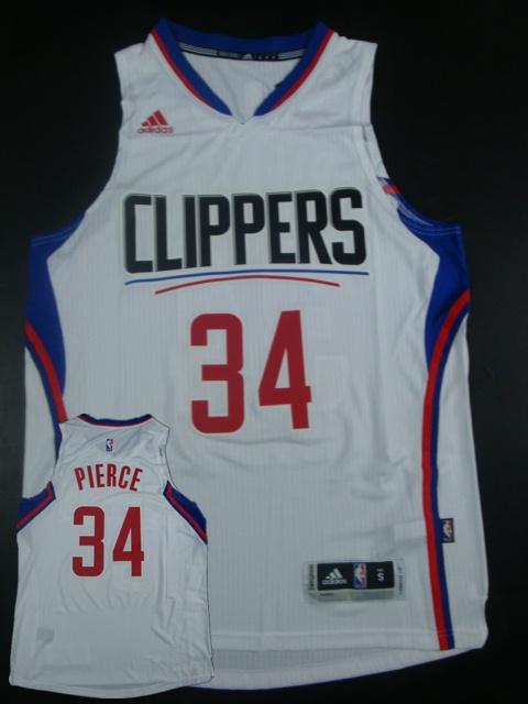 Clippers 34 Paul Pierce White 2015 New Rev 30 Jersey (hot printed)