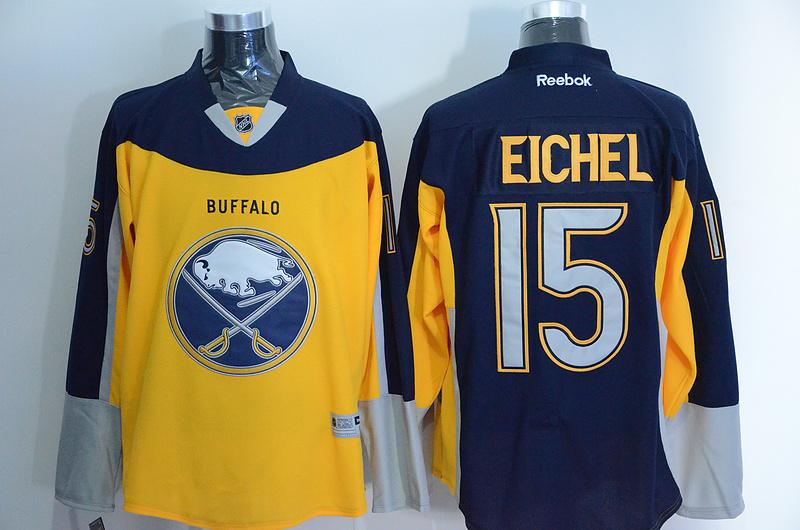 Sabres 15 Jack Eichel Blue Alternate Premier Reebok Jersey