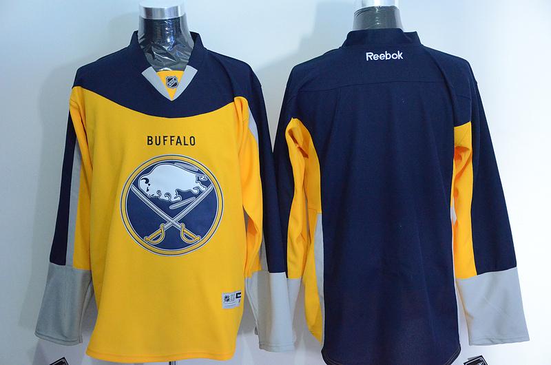 Sabres Blank Blue Alternate Premier Reebok Jersey