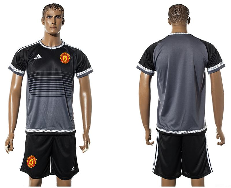 2015-16 Manchester United Black Training Jersey