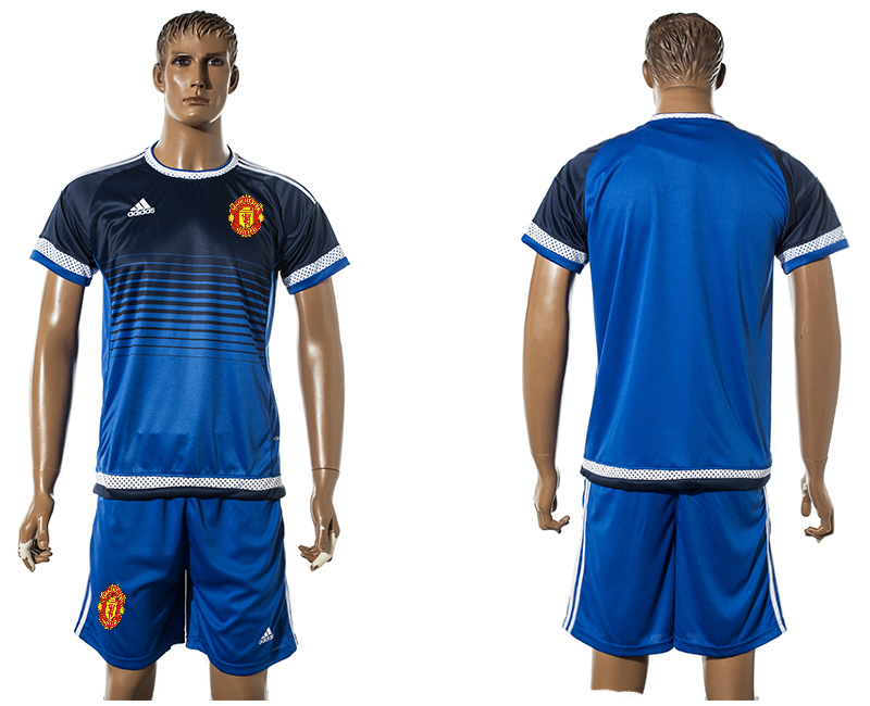 2015-16 Manchester United Blue Training Jersey