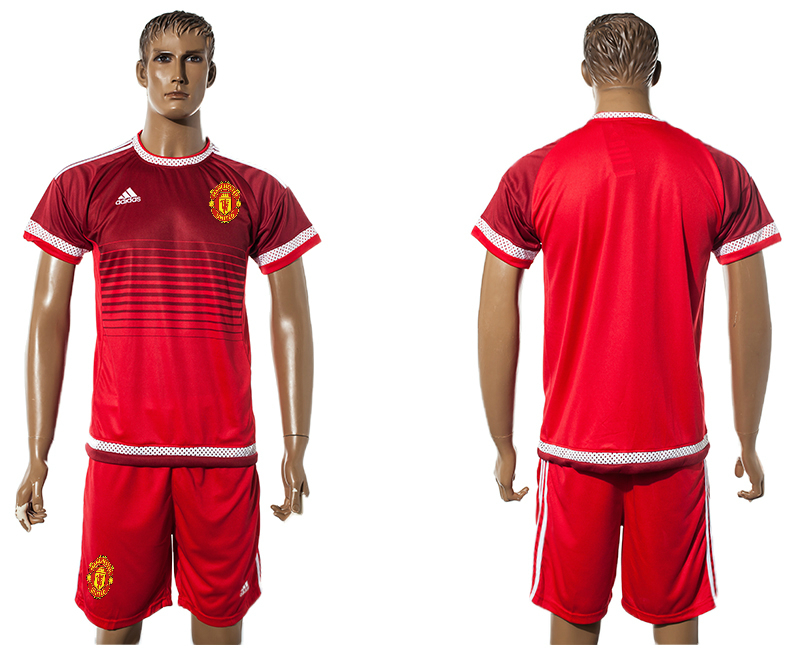 2015-16 Manchester United Red Training Jersey