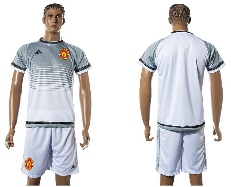 2015-16 Manchester United White Training Jersey