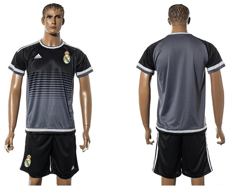 2015-16 Real Madrid Black Training Jersey