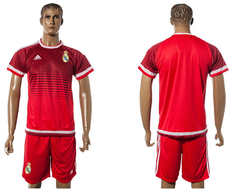 2015-16 Real Madrid Red Training Jersey