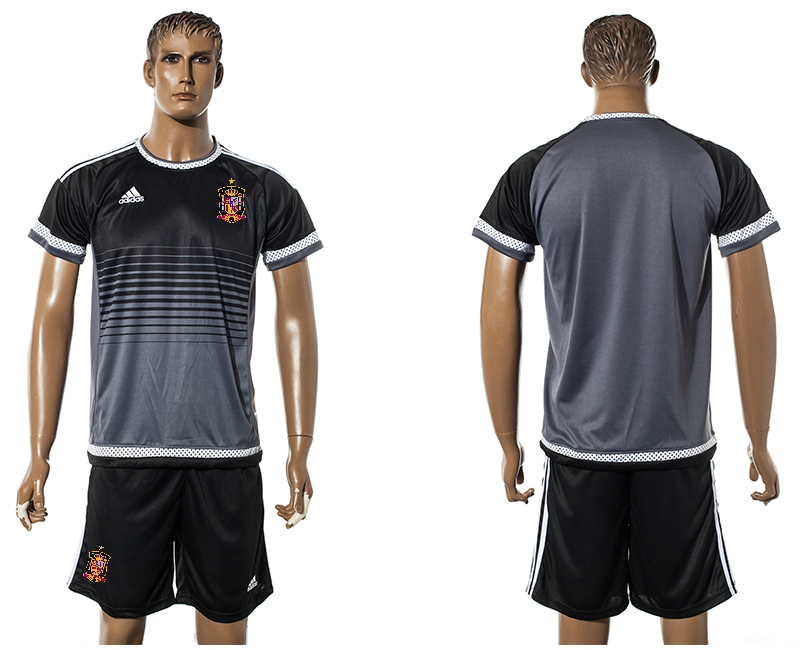 2015-16 Spain Black Training Jersey