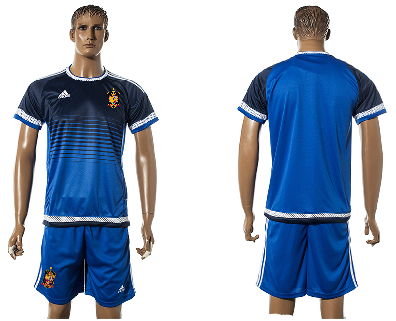 2015-16 Spain Blue Training Jersey
