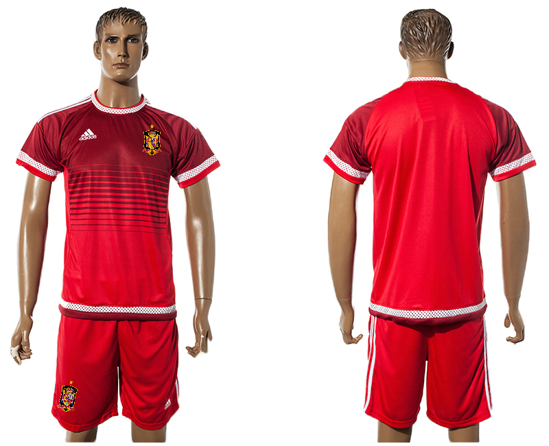 2015-16 Spain Red Training Jersey