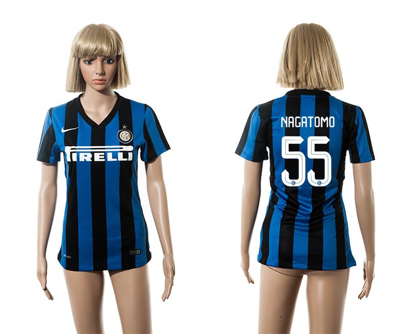 2015-16 Inter Milan 55 NAGATOMO Home Women Jersey