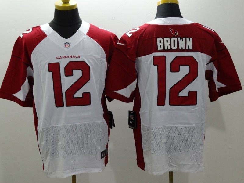 Nike Cardinals 12 John Brown White Elite Jersey