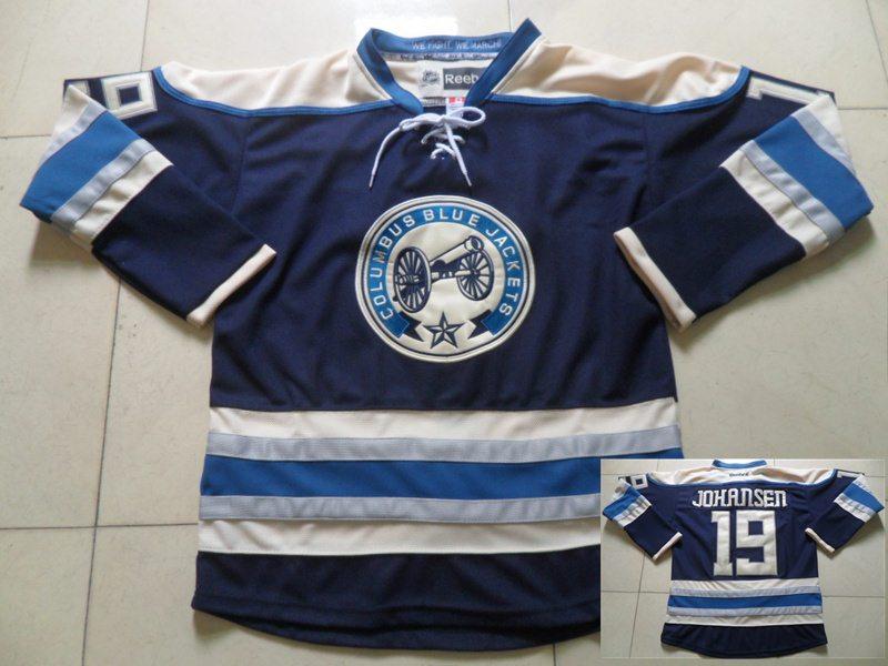 Blue Jackets 19 Ryan Johansen Blue Reebok Jersey