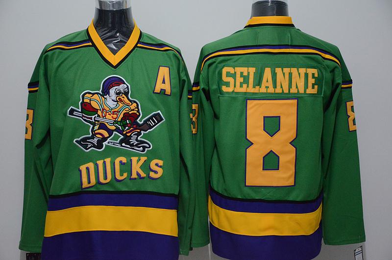 Ducks 8 Teemu Selanne Green CCM Jersey