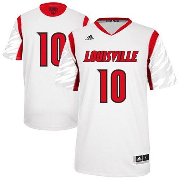 Louisville Cardinals 10 Gorgui Dieng White College Jersey