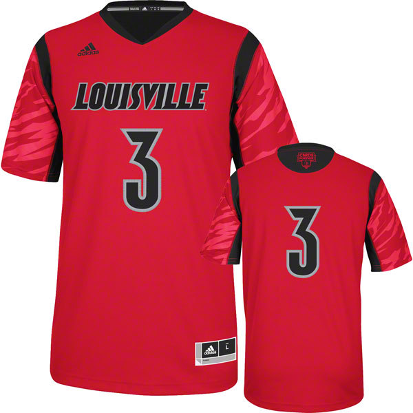 Louisville Cardinals 3 Peyton Siva Red College Jersey