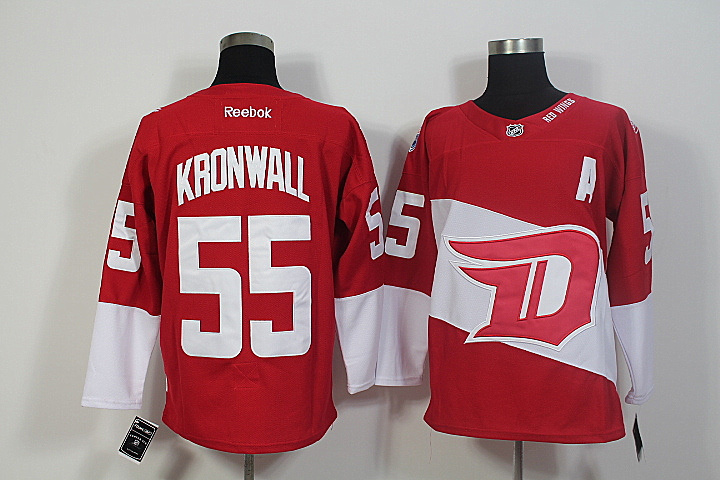 Red Wings 55 Niklas Kronwall Red 2016 Stadium Series Reebok Jersey