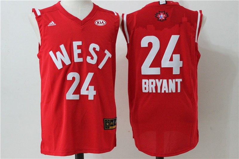Lakers 24 Kobe Bryant Red 2016 NBA All Star West Jersey