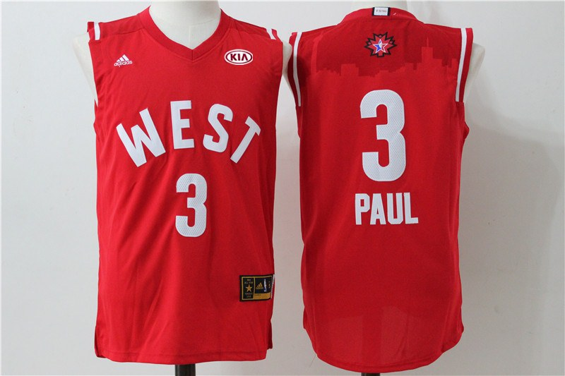 Clippers 3 Chris Paul Red 2016 NBA All Star West Jersey