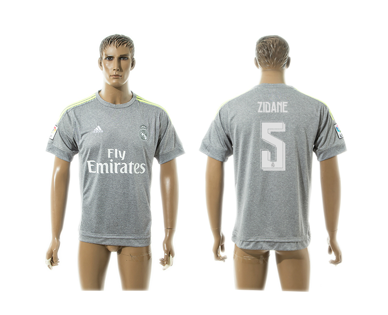 2015-16 Real Madrid 5 ZIDANE Away Thailand Jersey