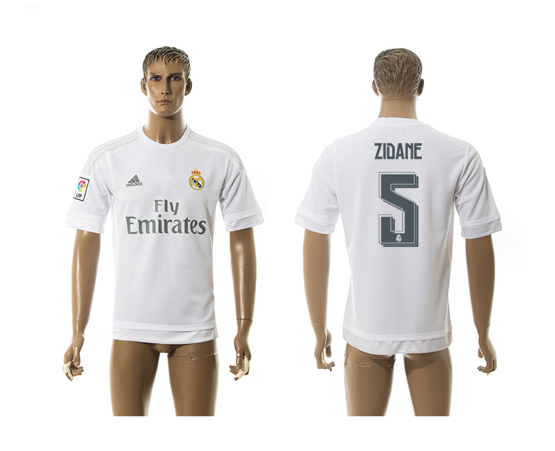 2015-16 Real Madrid 5 ZIDANE Home Thailand Jersey