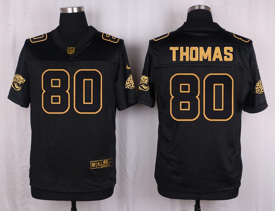 Nike Jaguars 80 Julius Thomas Pro Line Black Gold Collection Elite Jersey