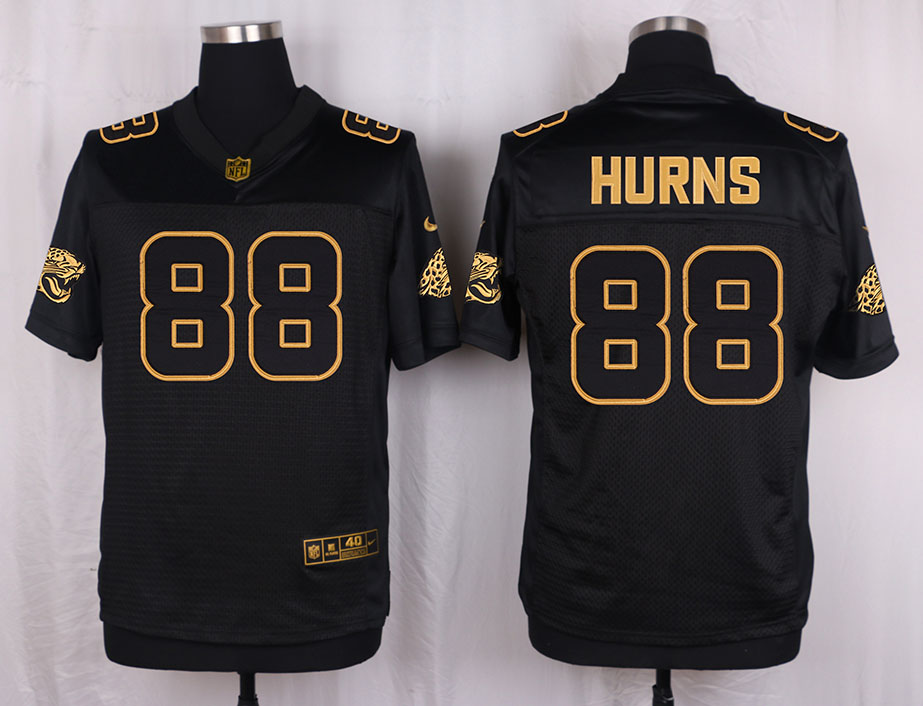 Nike Jaguars 88 Allen Hurns Pro Line Black Gold Collection Elite Jersey