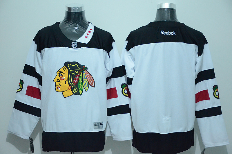 Blackhawks Blank White 2016 Stadium Series Reebok Jersey