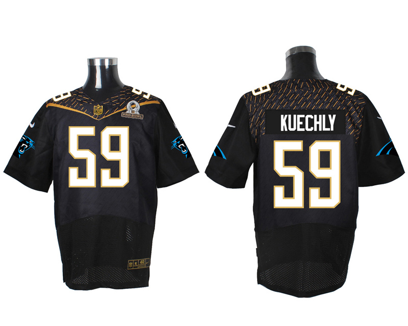 Nike Panthers 59 Luke Kuechly Black 2016 Pro Bowl Elite Jersey