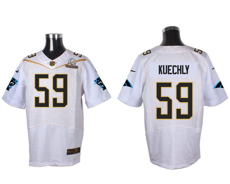 Nike Panthers 59 Luke Kuechly White 2016 Pro Bowl Elite Jersey