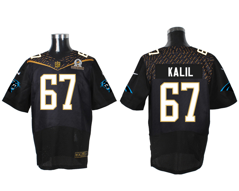 Nike Panthers 67 Ryan Kalil Black 2016 Pro Bowl Elite Jersey