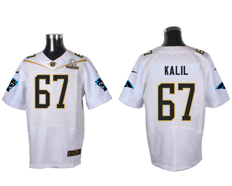Nike Panthers 67 Ryan Kalil White 2016 Pro Bowl Elite Jersey