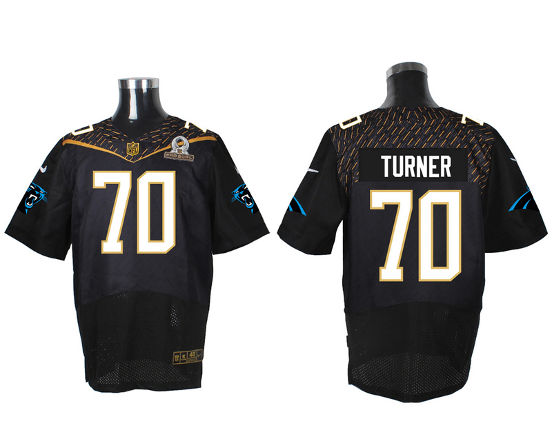 Nike Panthers 70 Trai Turner Black 2016 Pro Bowl Elite Jersey