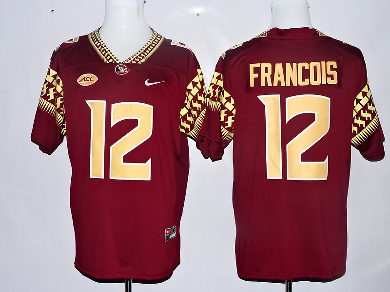 Florida State Seminoles 12 Deondre Francois Red College Football Jersey