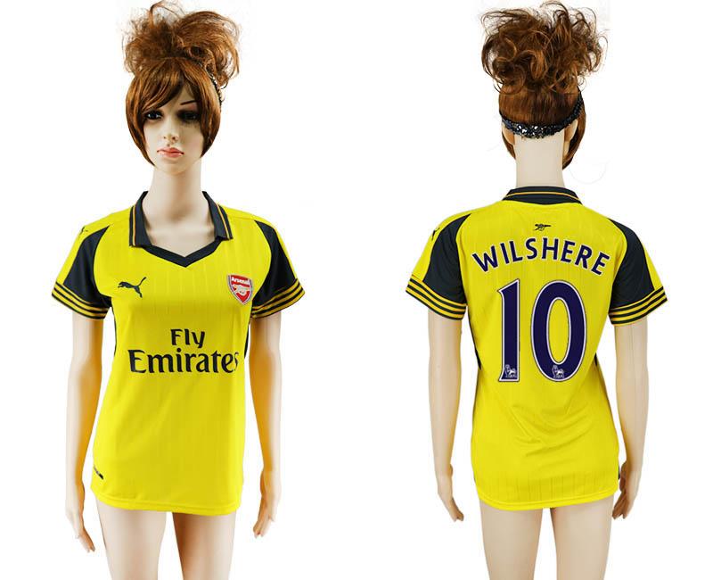 2016-17 Arsenal 10 WILSHERE Away Women Soccer Jersey