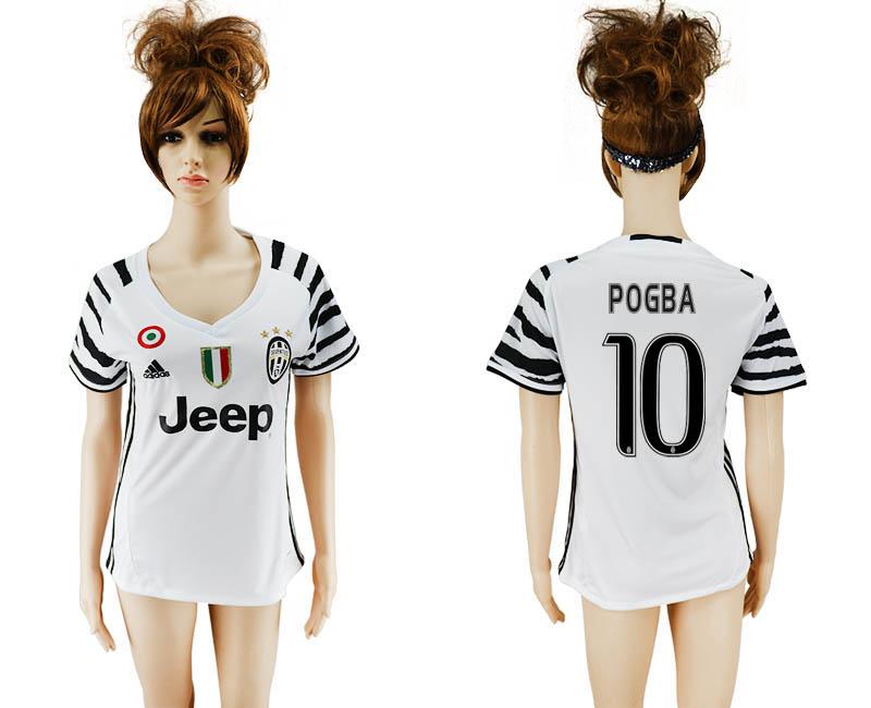 2016-17 Juventus 10 POGBA Third Away Women Soccer Jersey
