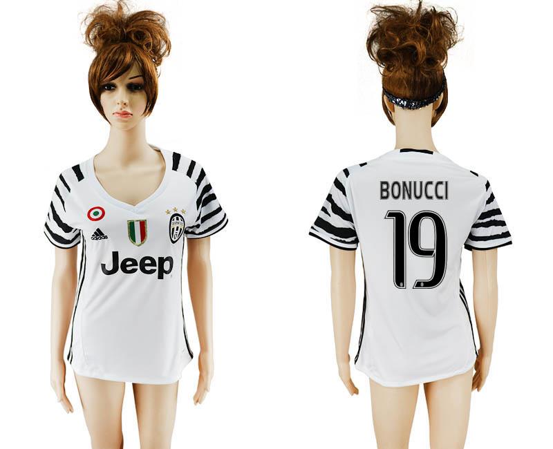 2016-17 Juventus 19 BONUCCI Third Away Women Soccer Jersey