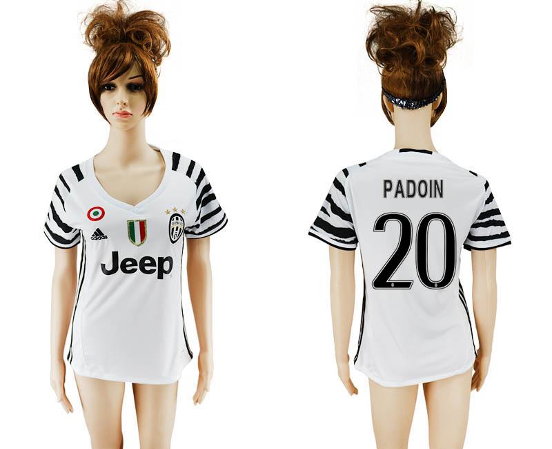 2016-17 Juventus 20 PADOIN Third Away Women Soccer Jersey