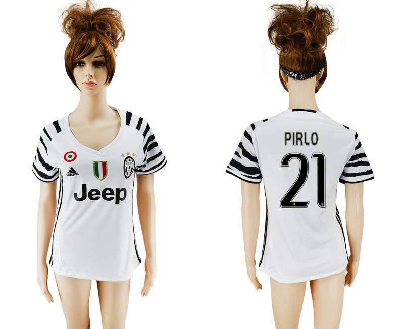 2016-17 Juventus 21 PIRLO Third Away Women Soccer Jersey