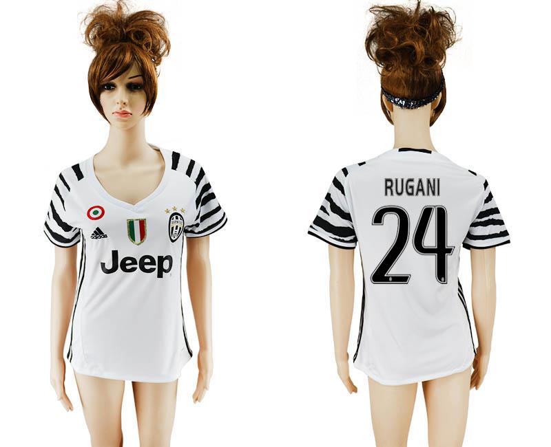 2016-17 Juventus 24 RUGANI Third Away Women Soccer Jersey