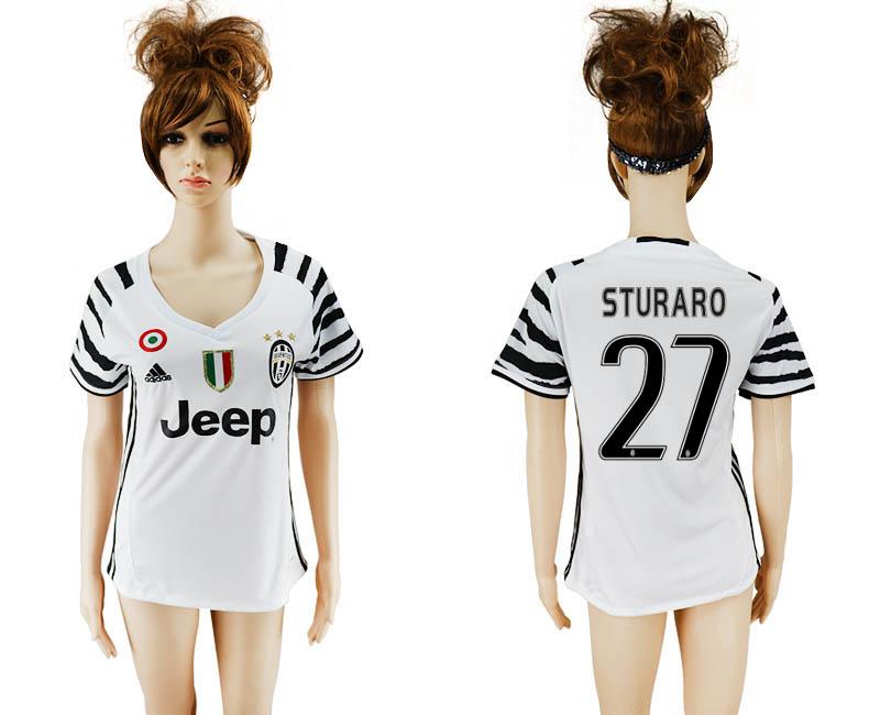 2016-17 Juventus 27 STURARO Third Away Women Soccer Jersey