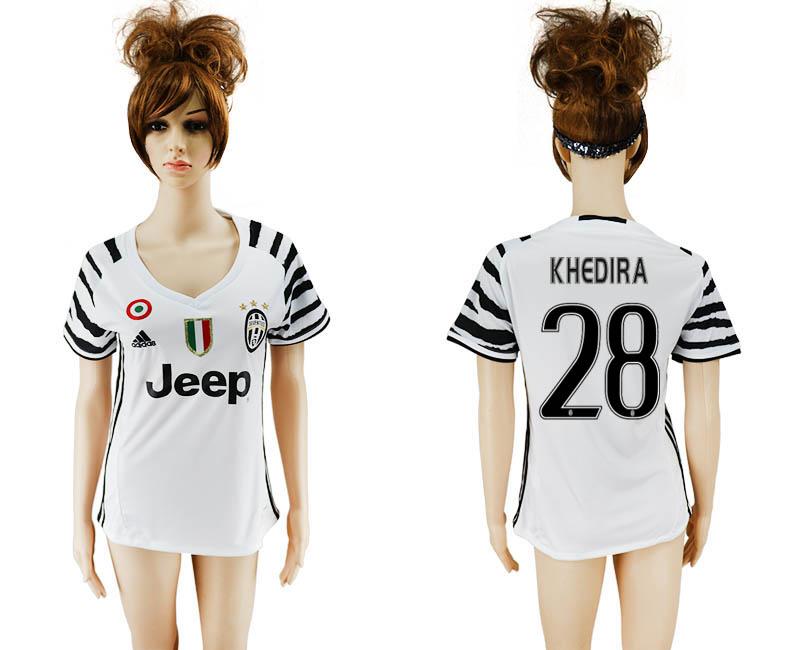 2016-17 Juventus 28 KHEDIRA Third Away Women Soccer Jersey